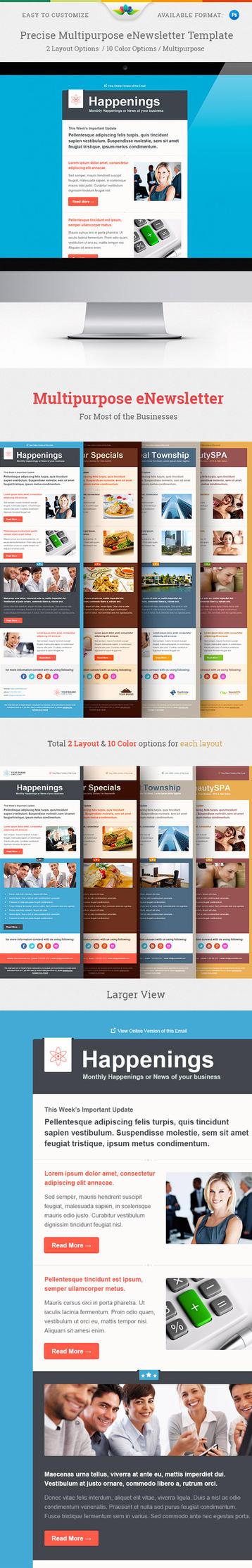 Precise Multipurpose E-newsletter Template by Saptarang
