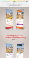 My Travel Roll Up Banner by Saptarang