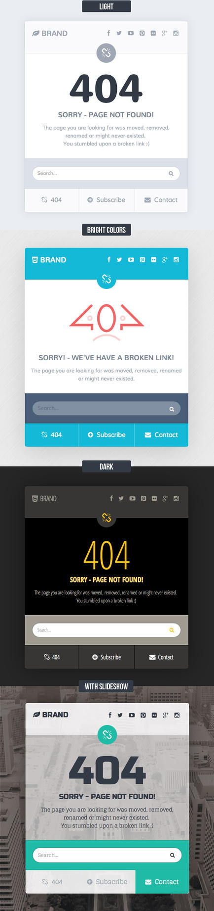 Missing - 404 Responsive Page Template by Saptarang