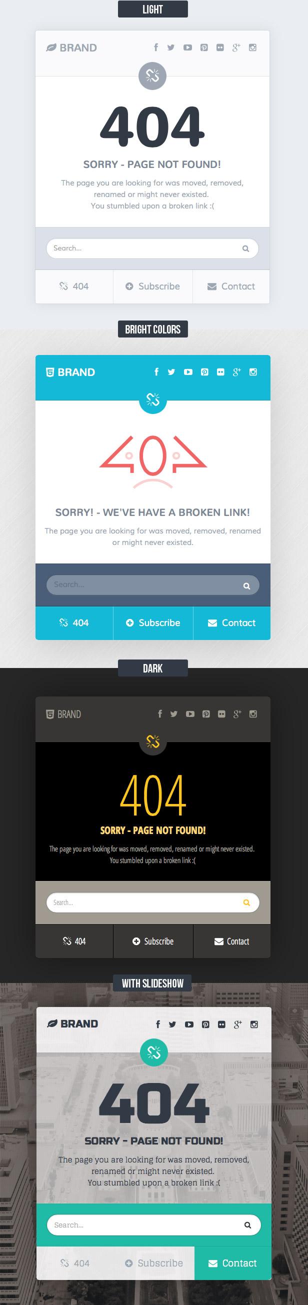 Missing - 404 Responsive Page Template by Saptarang