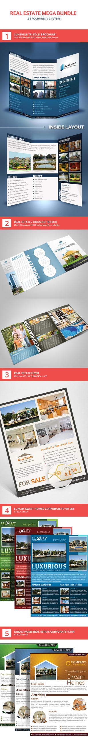 Real Estate Flyer and Brochure Mega Bundle by Saptarang