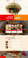 SpiceHub Restaurant Responsive Landing Page