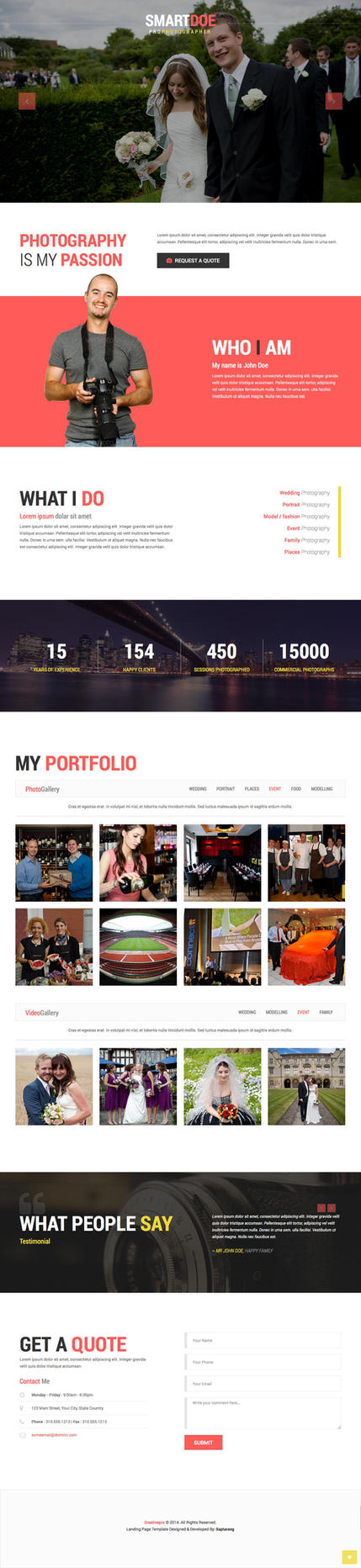 Photography Landing Template by Saptarang
