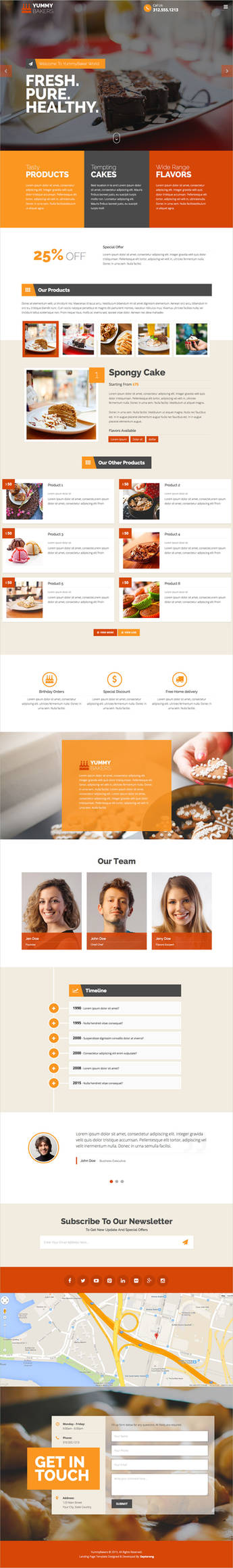 Products Services Landing Page by Saptarang