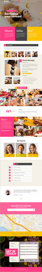 Spa Product Service Landing Page