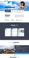 Travelers Landing Page by Saptarang
