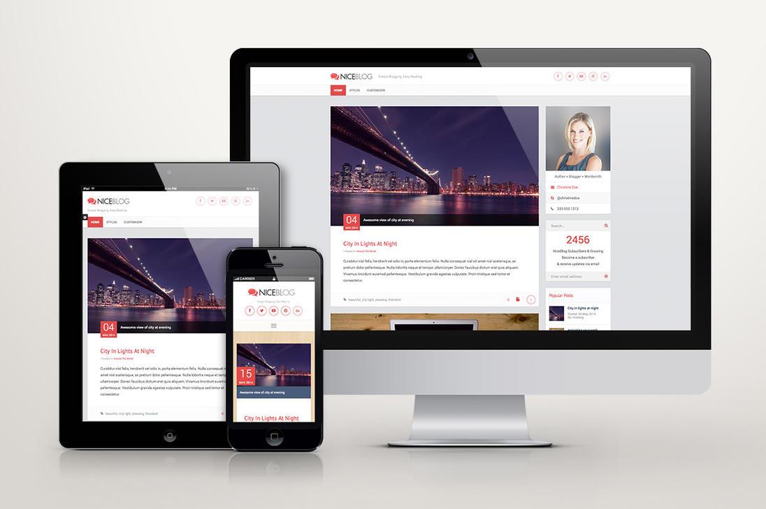 NiceBlog WordPress Blogging Theme by Saptarang