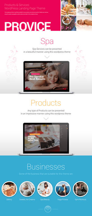 Provice WordPress Landing Page