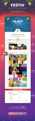 Festiv - Offer/Discount Landing Page by Saptarang