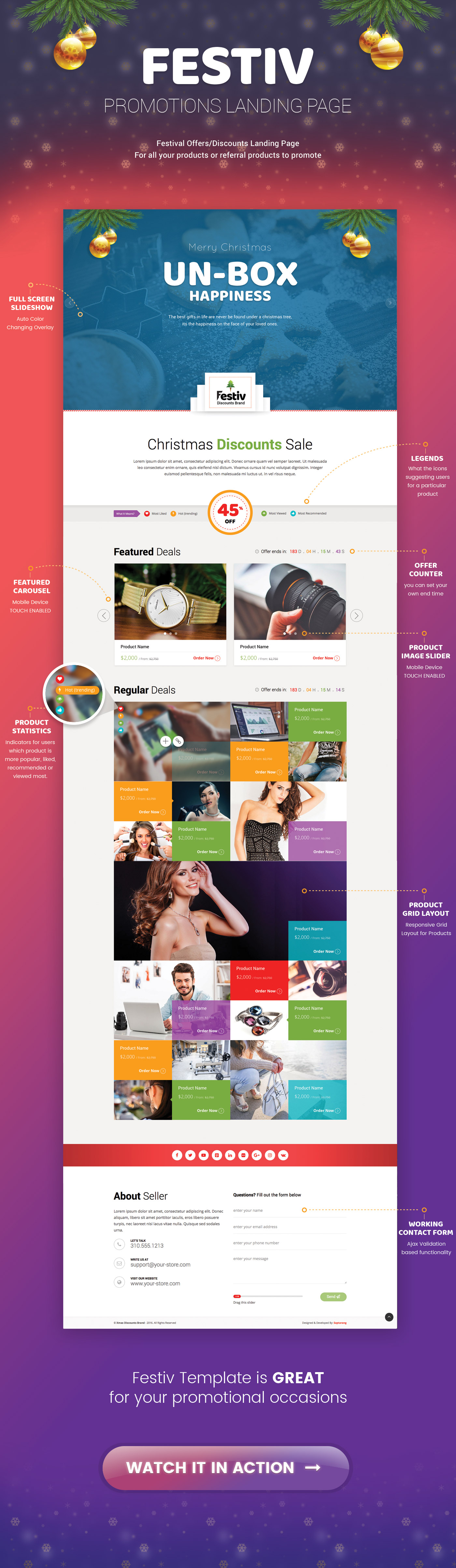 Festiv - Offer/Discount Landing Page by Saptarang