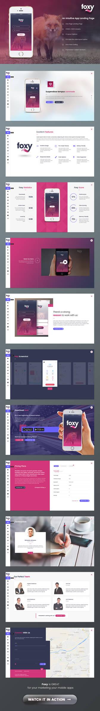 Foxy App Landing Page by Saptarang