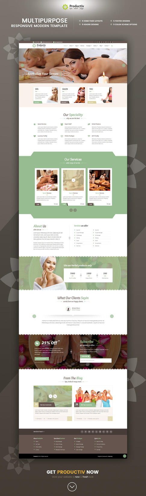 Productiv Multipurpose Responsive HTML Template by Saptarang