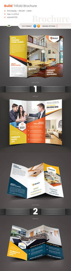 Build Real Estate trifold brochure