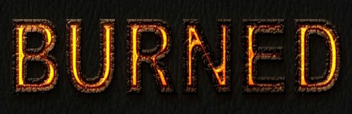 Burned Text Effect