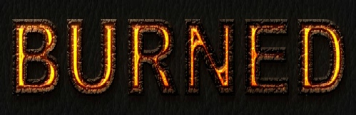 Burned Text Effect by platinumdesignzcom