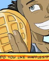 Sokka Likes Waffles_collab by Dragimal
