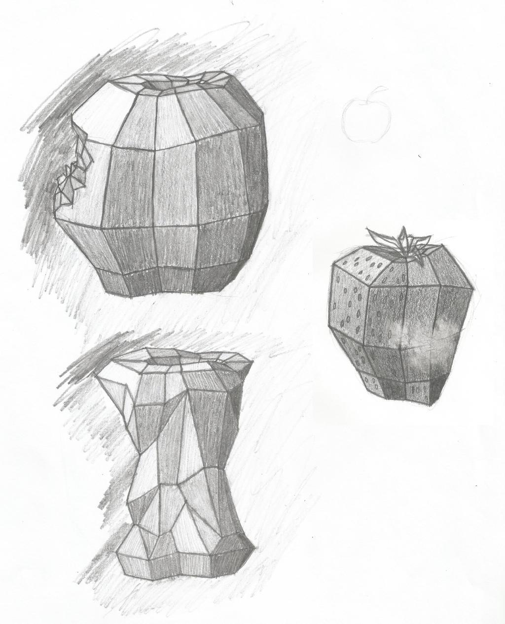 Geometric Fruits by Dragimal