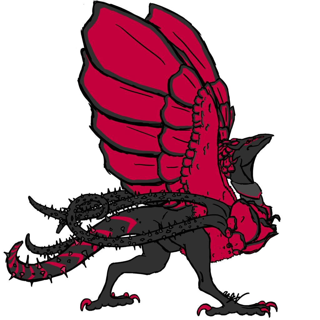 YGO Black Rose Dragon by Dragimal