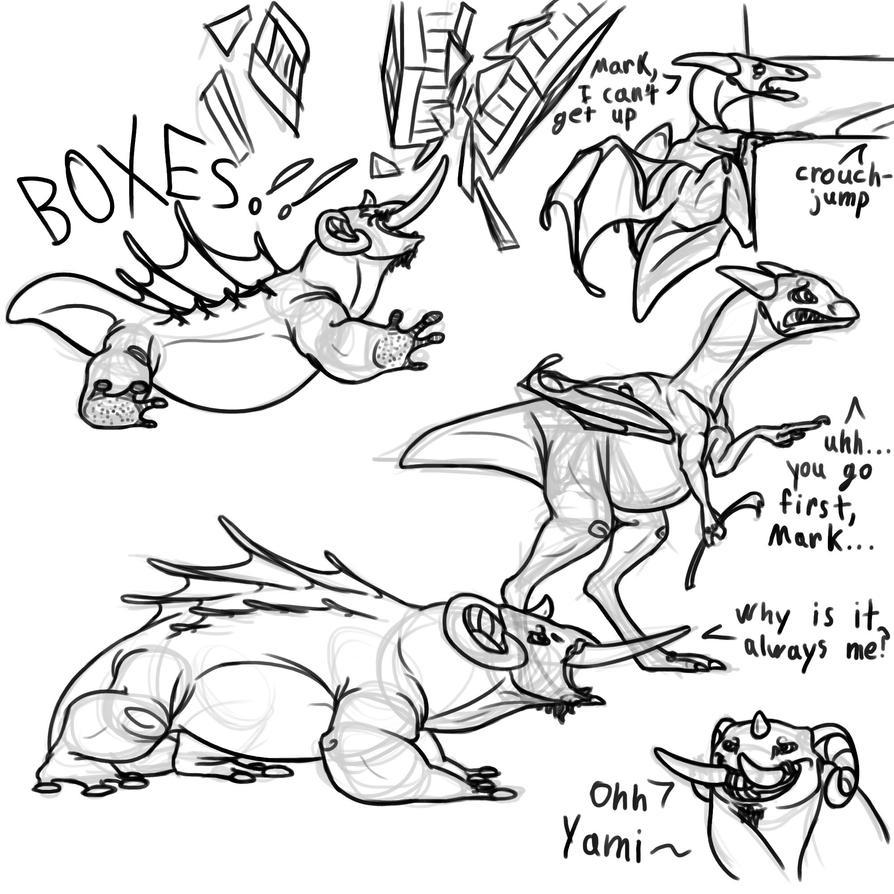 Markiplier/Yamimash Dragons by Dragimal