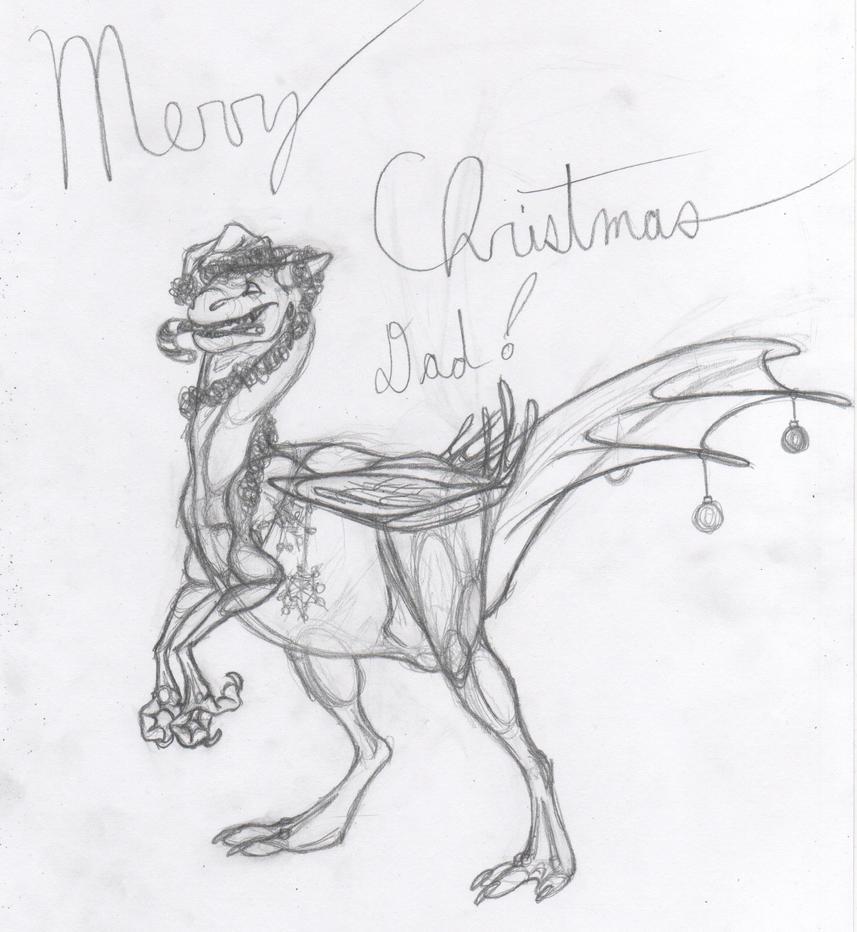 Christmas Raptor by Dragimal