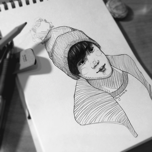 working process of this kid TT.TT by heybambie