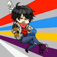 Ryotaro chibi and friends by Dihchan