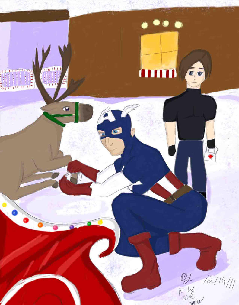 Mvc3 Christmas Contest Leon And Captain America By Umeki