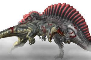 Tyrannosaurus Rex vs Spinosaurus Colored WIP