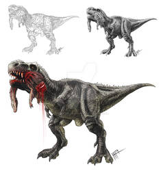 Scavenging T.rex