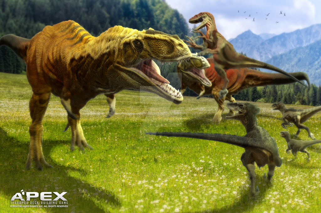 giganotosaurus vs utahraptor by herschelhoffmeyer on