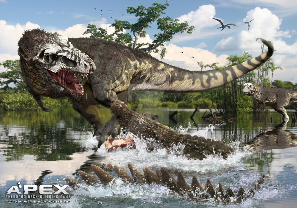 Tyrannosaurus Rex vs Deinosuchus rugosus by Herschel ...