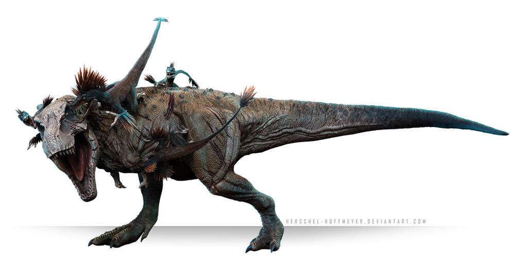 Tarbosaurus Vs Velociraptor By Herschel Hoffmeyer On