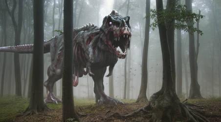 Zombie Rex by Herschel-Hoffmeyer