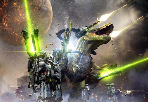 MK4 Battle Rex and a team of USC Commandos