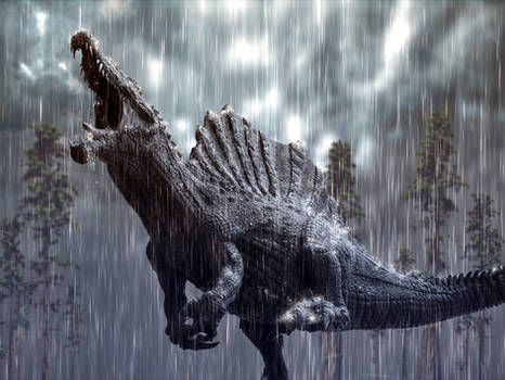 Spinosaurus in a tropical storm