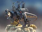 Carnotaurus Warpath Armor - Turntable 02 by Herschel-Hoffmeyer