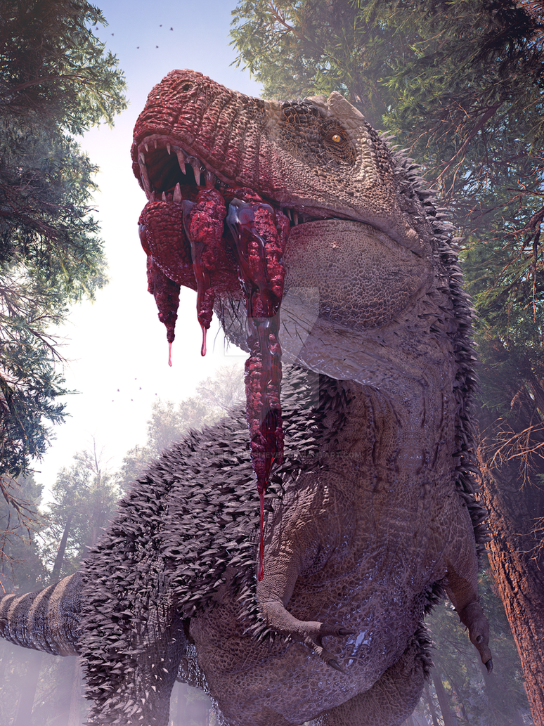 Awesome Paleoart  Rex_12_by_herschel_hoffmeyer-dbkq9hd