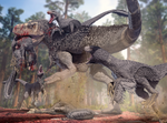 Tyrannosaurus vs Dakotaraptor