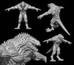Dino-Dragon Character Wip