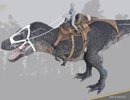 Tyrannosaurus Rex 3 Saddle: WIP