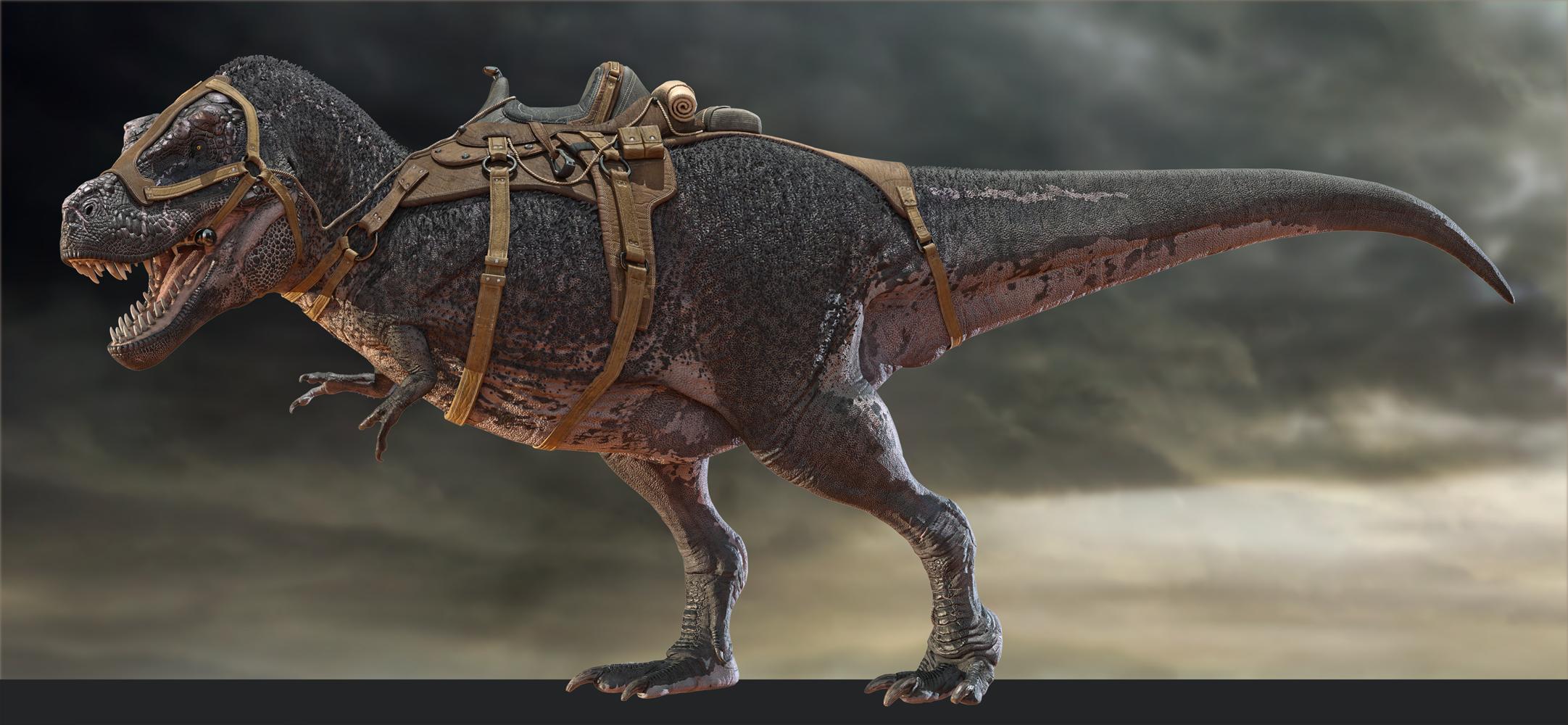 Tyrannosaurus Rex 3 Saddle for Daz3D