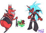 Scant.. Red Guy and Kneesocks