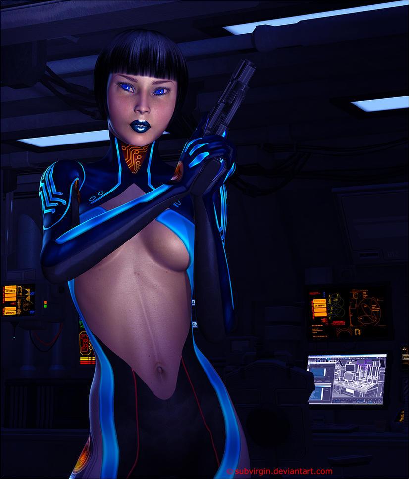 SA Blue in Ready for Mayhem by SubVirgin