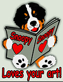 Snoopy loves your art 120px by WhoopySnoopy