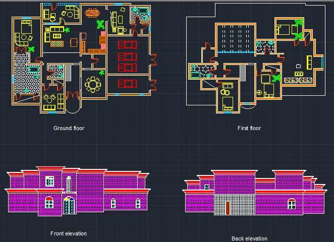 Floor Front Elevation Xp : Plan front elevation of first n ground floor by durraj