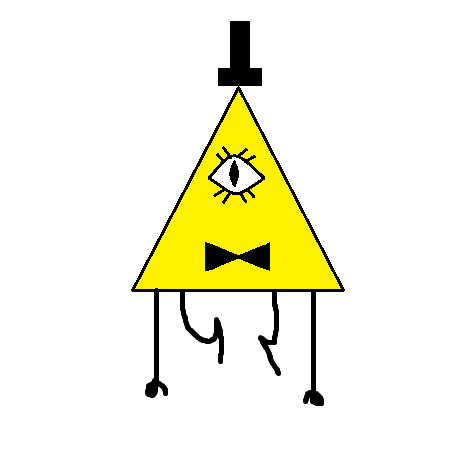 Bill Cipher in Paint by LadyChloe02