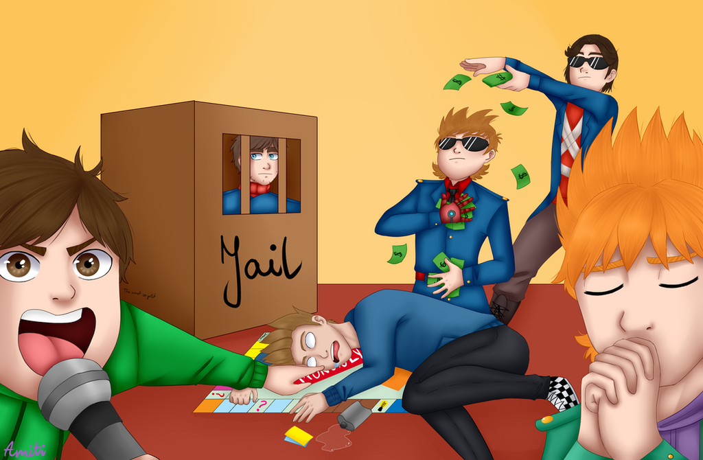 Monopoly night [eddsworld] by AmitiArt