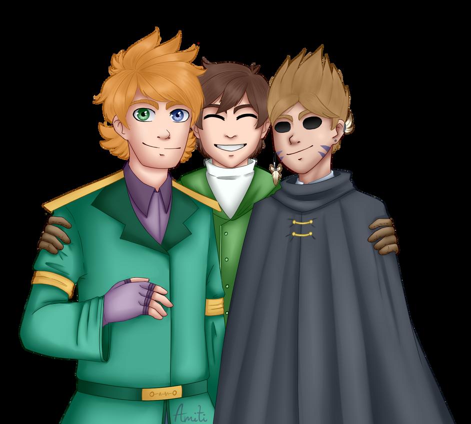Fantasy trio by AmitiArt