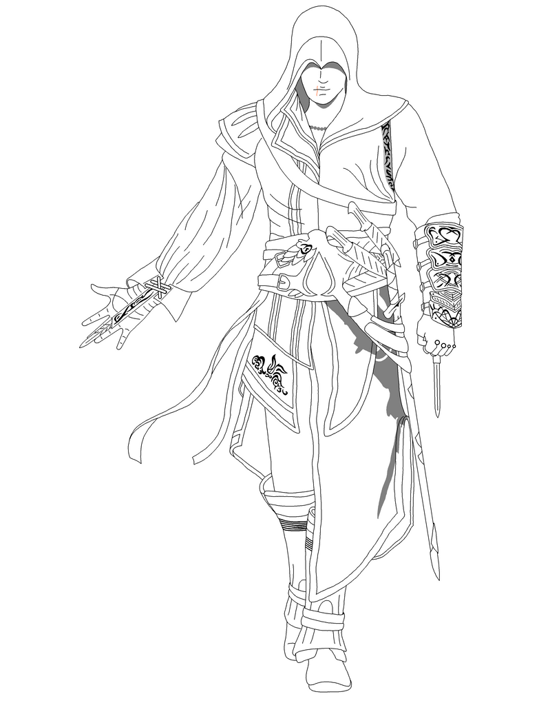 Ezio Auditore Coloring Auditore Free Download Printable