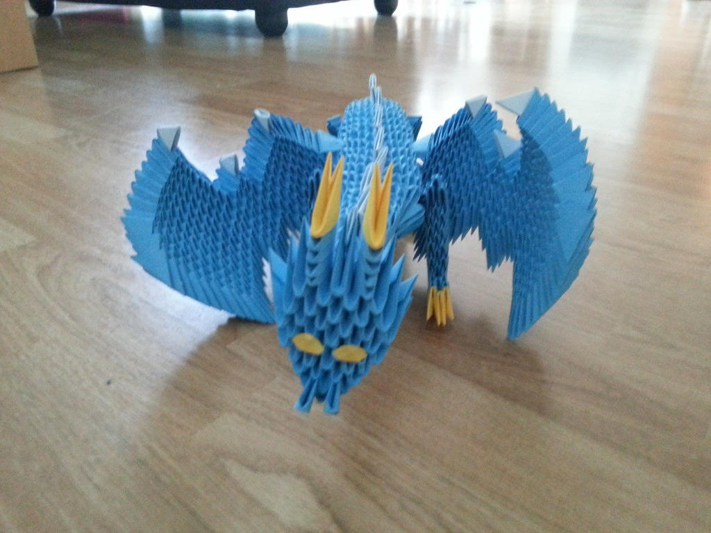 3D origami dragon - Front view by Biggi-N on DeviantArt - photo#47